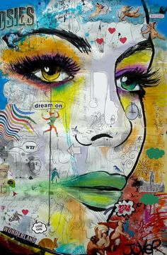 Pretty much sums up what goes on in my mind. Artist Loui Jover ...Australia