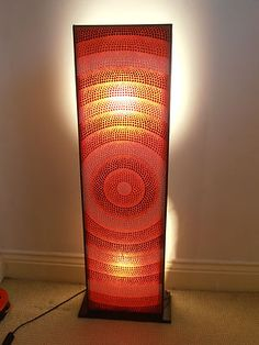 Retro 60s 70s floor standing Box Lamp Light