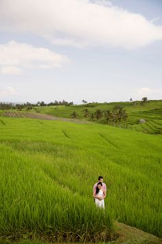 Paddy fields // Andreas and Monicha's Engagement Shoot in Bali