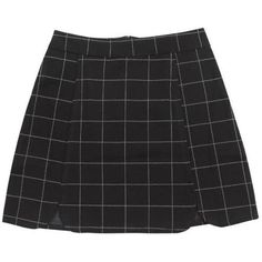 Grid Mini Skirt (344.425 IDR) ❤ liked on Polyvore featuring skirts, mini skirts, bottoms, short mini skirts, mini skirt and short skirts