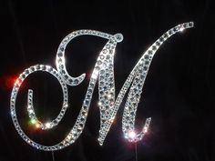 SWAROVSKI Crystal Rhinestone monogram.  Made with SWAROVSKI ELEMENTS!  www.harmanbeads.com