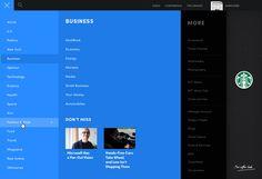 Full screen menu