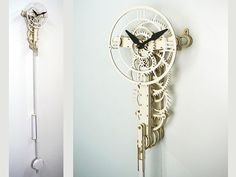 The Undecimus is a fun and accessible laser cut cardboard and paper clock, requiring a minimum of tools, time and workspace to build, ideal if you Wooden Clock Kits, Wall Clock Kits, Diy Clock, Paper Clock, Solar System Model, Small Clock, Dry Sand, Unique Clocks, Metal Bar Stools
