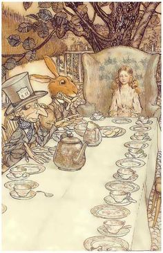 Illustration by Arthur Rackham from a 1907 edition of Lewis Carroll's Alice in Wonderland