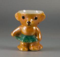 louis wain ceramics   1930s Rocking Teddy (girl) Egg Cup [229] -: Decorative Arts ...