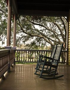 Plantation House Front Porch The best part, the porch and rockers