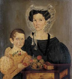 SHELDON PECK (1797-1868)  A double portrait of Frances Almira Millener and Fanny Root Millener oil on panel Price realized: $647,500 Jan 20...