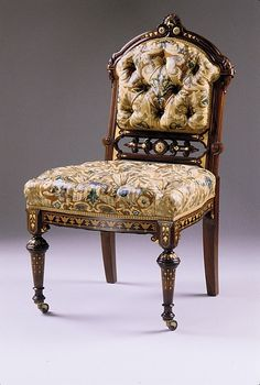 Herter Brothers Rosewood Side Chair, ca. 1860-70, Courtesy of the Met.