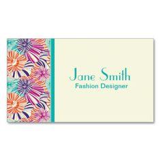 Blumenmuster-eleganter Mode-Designer-Stylist Visitenkarten