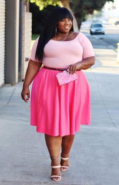 Plus Size Clothing for Women - J. Kane Salmon Skirt - Society - Society Plus - Buy Online Now! Women Big Size Clothes - http://amzn.to/2ix7dK5