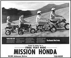 Vintage Honda mini trails ad..Love it.