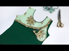 Latest Neck Design with Frill Work // Designer Neck Design Kurta Neck Design, Stylish Blouse Design, No Frills, Blouse Designs, Kurti, Videos, Fashion Dresses, Couture, Tank Tops