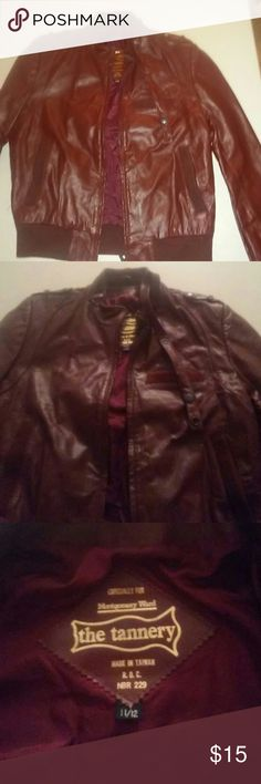 Burgundy leather jacket Classic! Excellent condition. the Tanner  Jackets & Coats
