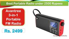 Avantree 3-in-1 portable FM radio with Bluetooth speaker: The US brand radio comes with a powerful sound system and six sound modes. Unlike a regular radio, the legendary BL-5C rechargeable battery powers this FM radio.