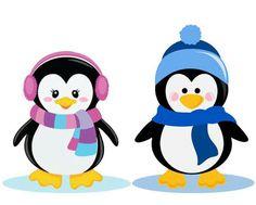 Pareja de pingüinos. Penguin Party, Penguin Love, Noel Christmas, Christmas Crafts, Christmas Ornaments, Clipart Noel, Craftwork Cards, Winter Kids, Christmas Paintings