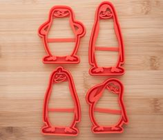 Penguins of Madagascar .  Cookie cutters. от CoolCookiesCutters