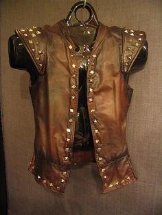 men leather vest burningman - Google Search