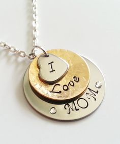 Mom necklace Mothers day gift gift for mom by UniqJewelryDesigns, $35.00