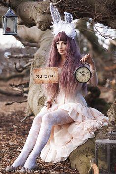 The White Rabbit - sultry Alice in Wonderland