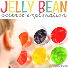 We LOVE doing simplescienceexperiments and investigations in our house! This jelly bean simple science experiment was no exception