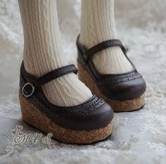 Platform shoe for SD Girl BJD 4 colors by MoriTime on Etsy