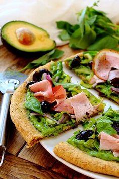Spring Veg Paleo Flatbread Pizza
