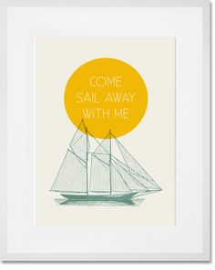 """""""Come Sail With Me"""" Industrial Typography Art Print by Cory McBee for GreenBox Art + Culture $29 - $129 (3/25 - Last Day! Get 20% Off Orders Over $149 