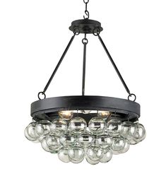 Buy the Currey and Company 9887 French Black Direct. Shop for the Currey and Company 9887 French Black Balthazar 3 Light Pendant with Suspended Clear Glass Globes and save. Round Chandelier, Chandelier Design, 3 Light Pendant, Ceiling Lights, Bliss Home And Design, Glass Blowing, Wrought Iron Glass, Glass Ball, 3 Light Chandelier