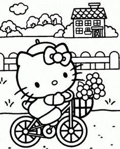 Hello Kitty Malarbilder For Barn Teckningar Online Till
