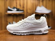 Nike Air Max 98 (Hvid, Pure Platinum & Sort) 640744 106