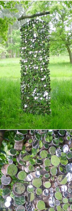 Green & White Landscaping - SO BEAUTIFUL!      Source     Mirror and statue        Source     Great Garden Art       Source     Mirror bloc...