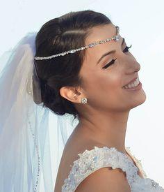 Bridal Forehead Band  Bridal Headband  by HeadpieceHeavenSalon