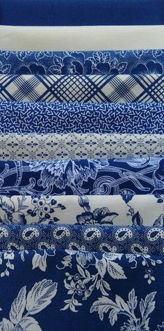 Blue Patterned Fabric - which one would you choose?