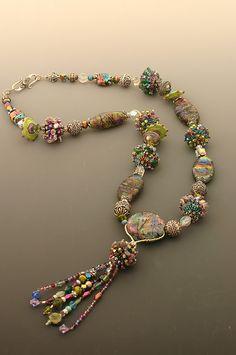 Handmade glass bead necklace | Flickr - Photo Sharing!