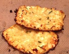 """Cauliflower """"hasbrowns"""" with feta and chives. #glutenfree #lowcarb #easycooking and so, so delicious! http://cookingupkefi.com/2015/01/21/feta-chive-cauliflower-hashbrowns/"""