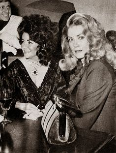 peterotooled: Elizabeth Taylor and Princess Grace de Monaco at Elizabeth's 40th birthday party, Budapest, 1972.