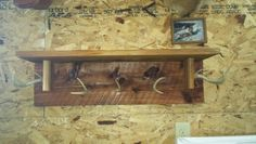 Antler Shelf...my husband, Alan  made this shelf for our son, Tyler. It's made red cedar wood.