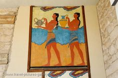 fresco in the Minoan palace, Knossos