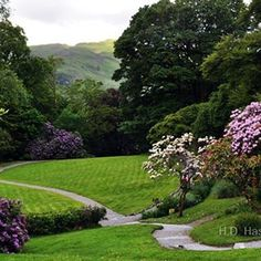 Gardens at Rydal Mount the home of William #Wordsworth famous poet laureate of England. Located in the Lakes district the home is still maintained by the family. Wordsworth planned the gardens with his favorite shrubs and flowers including the daffodil - subject of his famous poem. #garden #green #landscape #photography #flower  #england #travel  #vacation #rydal #poetry #nature #grassmere #lakesdistrict #serene #finding #path #nikon by ax4u.fotos