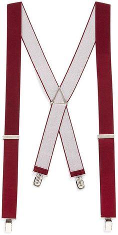 Topman Burgundy Plain Vintage Braces
