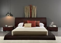 Accessories & furniture,Glamorous Floating Platform Bed Design With Wooden Headboard And Bedside Table Featuring Unique Bedroom Decorations Idea,Exceptional Floating Platform Bed Furniture Designs Furniture, Creative Beds, Bed Furniture Design, Palette, Home Decor, Platform Bed Designs, Bedroom Decor, Floating Platform Bed, Large Art Prints