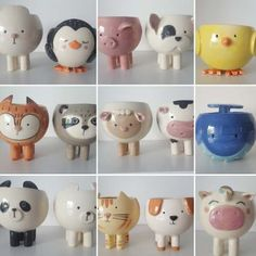 Pottery Bowls, Ceramic Pottery, Ceramic Art, Clay Art Projects, Clay Crafts, Mini Vasos, Beginner Pottery, Paper Mache Animals, Kindergarten Art Projects