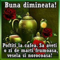 Imagini buni dimineata si o zi frumoasa pentru tine! - BunaDimineataImagini.ro Diy Crafts Hacks, Tea Pots, Tableware, Travel Quotes, Tuesday, Google, Blue Prints, Dinnerware, Tablewares