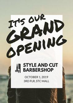Barbershop Grand Opening Flyer