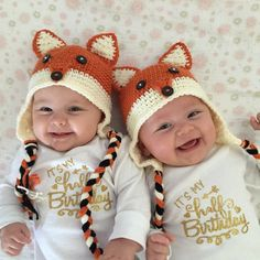 Fox Hat Fall Hat Baby Fox Hat Crochet Fall Hat Crochet Fox Hat Turkey Photo Prop Cbbcreations