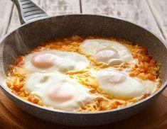 My top three egg recipes: Shakshuka, Huevos Rancheros and my secret family Sephardic Huevos con Tamate Gordon Ramsay, Egg Recipes, Cake Recipes, Greek Recipes, Mozzarella, Huevos Rancheros, Le Chef, Frittata, Buffet