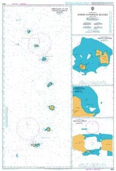 British Admiralty Nautical Chart 3593: South Sandwich Islands