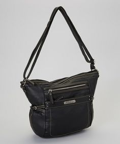 Designed with a fine leather look and Italian inspiration, this bag wears ornamental buckles and shiny hardware. The top zipper closure secures a bevy of pockets and the adjustable crossbody strap ensures hands aren't tied up. Cross Body, Franco Sarto, Take That, Shoulder Bag, Zipper, Crossbody Bags, Leather, How To Wear, Hardware