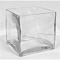 Glass Cube Vase, 6 x 6-$6.84