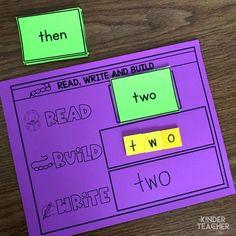 Sight Word Activities, Hands On Activities, Art Activities, Sight Word Practice, Sight Words, Writing Words, Sentences, Homeschool, Stamps